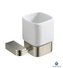 Fresca Solido FAC1314BN Tumbler Holder - Brushed Nickel