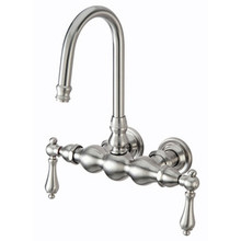 "Kingston Brass 3-3/8"" Wall Mount Clawfoot Tub Filler Faucet - Satin Nickel"