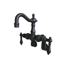 "Kingston Brass 3-3/8"" - 9"" Adjustable Center Wall Mount Clawfoot Tub Filler Faucet - Oil Rubbed Bronze"