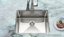 "Hamat HYDRUS Undermount Single Bowl 23"" x 18"" Kitchen Sink - Stainless Steel"
