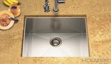 "Hamat PRIZM Zero Radius Undermount 23"" x 18"" Single Bowl Kitchen Sink - Stainless Steel"