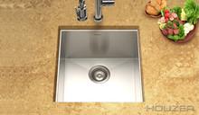 "Houzer Contempo CTR-1700 Zero Radius Undermount 17"" x 18"" Prep Sink - Stainless Steel"