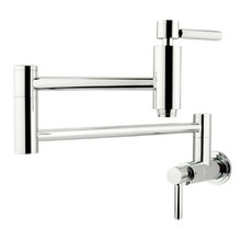 Kingston Brass Wall Mount Pot Filler Kitchen Faucet - Polished Chrome