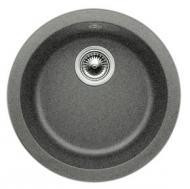 "Blanco Rondo 511632 Drop In or Undermount Round Silgranit Bar Prep Sink 17-11/16"" x 6-5/8"" - Anthracite"