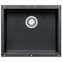 "Blanco Precis 513428 Undermount 20 3/4"" x 18"" Large Single Bowl Silgranit Kitchen Sink - Anthracite"