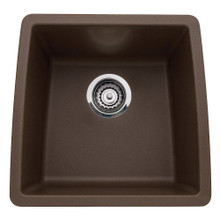 "Blanco Performa 440078 Undermount 15 1/2"" x 17 1/2"" Single Bowl Silgranit Bar Prep Sink - Cafe Brown"