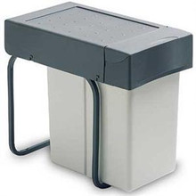 Richelieu 2260100 Single Bin Slide Out Waste Bin - 5.28 gal. - Grey