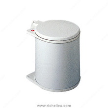 Richelieu 371530 Under Cabinet Waste Bin with Lid - 3.96 gal. - White Metal