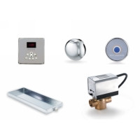 Mr. Steam MSBUTLER2SQ-PN Butler Package with (2) iTempo Pro Square Programmable Control for Steam Bath Generator - Polished Nickel