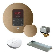 Mr. Steam MSBUTLER1 RD-BN Butler Package with iTempo Pro Round Programmable Control for Steam Bath Generator - Brushed Nickel
