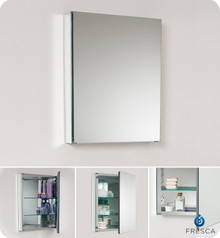 "Fresca FMC8058 19.75"" Mirrored Bathroom Medicine Cabinet 26"" H X 19.5"" W"