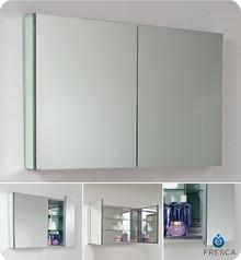 "Fresca FMC8010 39"" Bathroom Medicine Cabinet 26"" H X 39.5"" W with Mirrored Doors"