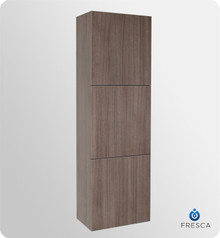 "Fresca FST8090GO 18'' Bathroom Linen Cabinet 59"" H X 17.75"" W X 12"" L W/ 3 Large Storage Areas  - Gray Oak"