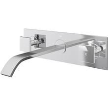 Vigo VG05002CH Two Handle Wall Mount Lavatory Faucet - Chrome