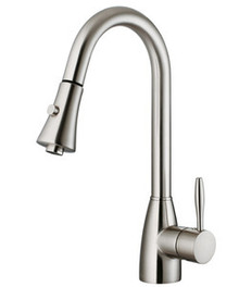 Vigo VG02013ST Single Handle Pull Out Spray Kitchen Faucet - Stainless Steel