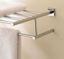 "Valsan Braga 67663ES 15 3/4"" Towel Bar & Shelf - Satin Nickel"