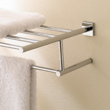 "Valsan Braga 676632ES 23 5/8"" Towel Bar  & Shelf  - Satin Nickel"
