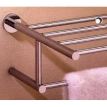 "Valsan Porto 67563ES 15 3/4"" Towel Bar & Shelf - Satin Nickel"