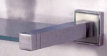 "Valsan Cubis Plus 67462ES 20"" Glass Shelf - Satin Nickel"