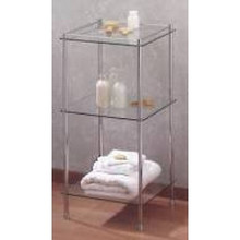 Valsan Essentials 57400CR 3-Tier Glass Shelf Unit - Chrome