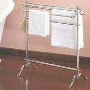 Valsan VDS 53515NI Freestanding Double Towel Holder - Polished Nickel