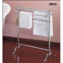 Valsan VDS 53515ES Freestanding Double Towel Holder - Satin Nickel