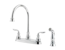 Price Pfister GT36-4CBC  Two Handle Centerset Kitchen Faucet w/Sidespray - Chrome
