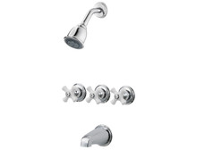 Price Pfister LG01-8CPC Three Handle Tub & Shower Faucet-Chrome