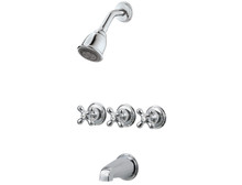 Price Pfister LG01-8CBC Three Handle Tub & Shower Trim Only - Chrome