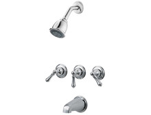 Price Pfister LG01-81BC Three Handle Tub & Shower Faucet-Chrome