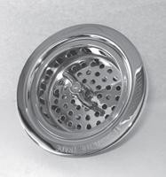 Trim To The Trade 4T-242-20 Lock Style Basket Strainer for Kitchen Sink - Flat Black