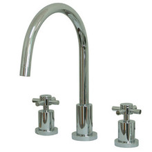 Kingston Brass Two Handle Widespread Kitchen Faucet - Polished Chrome KS8721DXLS