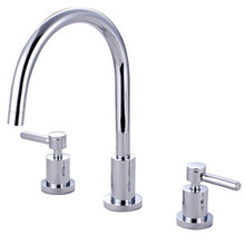 Kingston Brass Two Handle Widespread Kitchen Faucet - Polished Chrome KS8721DLLS