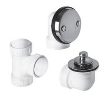 "Mountain Plumbing BDWPLTP PVD Brass Lift & Turn Bath Waste & Overflow Plumber""s Half Kit - Polished"