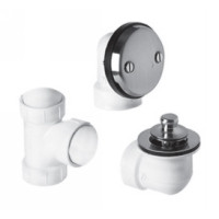 "Mountain Plumbing BDWPLTP MB Lift & Turn Bath Waste & Overflow Plumber""s Half Kit - Matte Black"