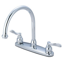 Kingston Brass Two Handle Widespread Kitchen Faucet - Polished Chrome KB8791NFLLS