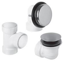 Mountain Plumbing BDWUNVP PEW Soft Toe Touch Bath Waste/Overflow Kit - Pewter
