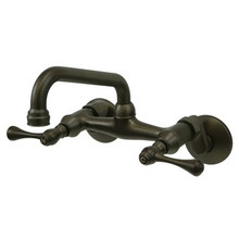 Kingston Brass Two Handle Wall Mount Kitchen Faucet - Oil Rubbed Bronze KS313ORB