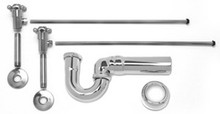 Mountain Plumbing MT3046-NL/TB Lav Sweat Valve  Supply Kits W/New England/ Massachusetts P-Trap -  Tuscan Brass