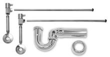 Mountain Plumbing MT3045-NL/SC Lav Sweat Valve  Supply Kits W/New England/ Massachusetts P-Trap -  Satin Chrome
