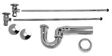 Mountain Plumbing MT3043-NL/GPB Lav Supply Kits W/New England/ Massachusetts P-Trap -  Polished Gold