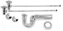 Mountain Plumbing MT3042-NL/FG Lav Supply Kits W/New England/ Massachusetts P-Trap -  French Gold