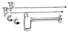 Mountain Plumbing MT8000-NL-PVD Brass Lav Supply Kits W/Decorative Trap - PVD Brass