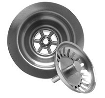 Mountain Plumbing MT300 SC Kitchen Sink Basket Strainer - Satin Chrome