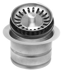 Mountain Plumbing MT202 BRS Extended Waste Disposer Flange + Stopper Strainer - Brushed Stainless