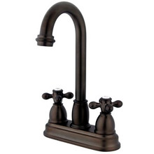 "Kingston Brass Two Handle 4"" Centerset Bar Faucet - Oil Rubbed Bronze KB3495AX"