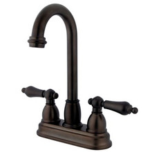 "Kingston Brass Two Handle 4"" Centerset Bar Faucet - Oil Rubbed Bronze"