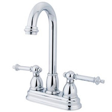 "Kingston Brass Two Handle 4"" Centerset Bar Faucet - Polished Chrome KB3491TL"