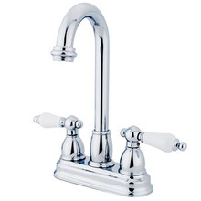 "Kingston Brass Two Handle 4"" Centerset Bar Faucet - Polished Chrome KB3491PL"