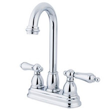 "Kingston Brass Two Handle 4"" Centerset Bar Faucet - Polished Chrome KB3491AL"